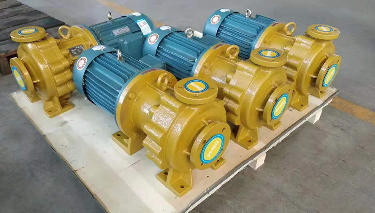 IMD horizontal FEP lined salt water transport pump